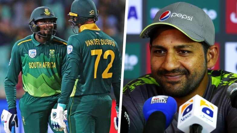 Did Sarfraz Ahmed Make a Racial Remark? PAK Captain Calls South African Pacer Andile Phehlukwayo 'Abey Kaale' in 2nd ODI, 2019: Watch Video