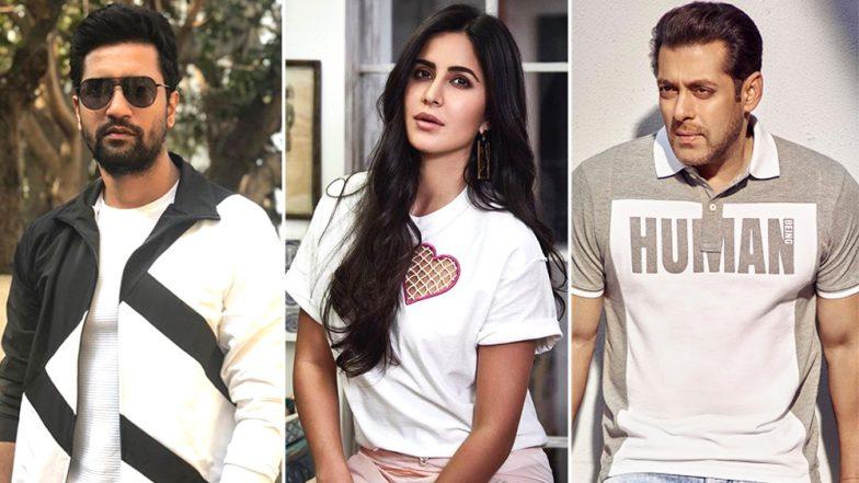 Salman Khan Pretends to Sleep as Vicky Kaushal Proposes Katrina Kaif! (Watch Video)