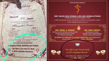 Mangalore Couple Seeks 'Vote for PM Modi in 2019 Lok Sabha Elections' Through Marriage Invite