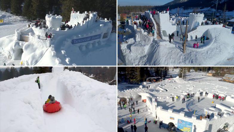 World's Largest Snow Maze in Poland: Snowlandia Zakopane Park Builds Massive Labyrinth Structure, Watch Video