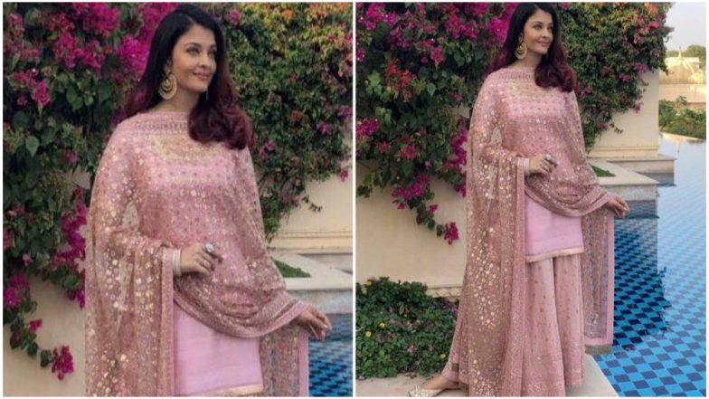 Aishwarya Rai Bachchan in Pink Sharara Looks as Elegant as a Queen! (View Pic)