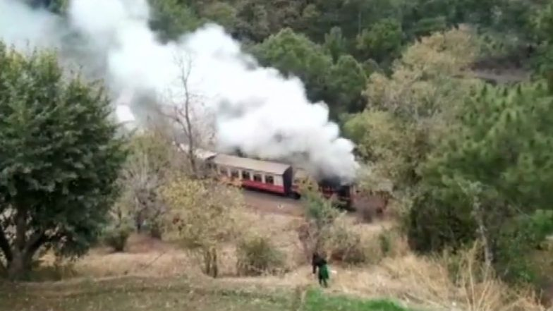 Himalayan Queen Train Catches Fire on Kalka-Shimla Heritage Route in Himachal Pradesh; Watch Video