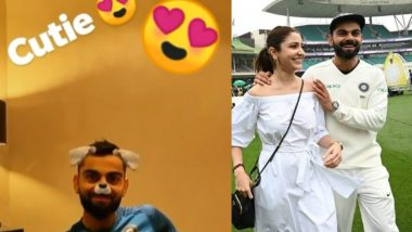 Virat Kohli Declared Man of the Match, While Anushka Sharma Declares Him a 'Cutie' – Watch Video