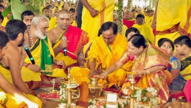 Telangana CM K Chandrasekhar Rao Performs Chandi Yagam for 'Welfare' of the People