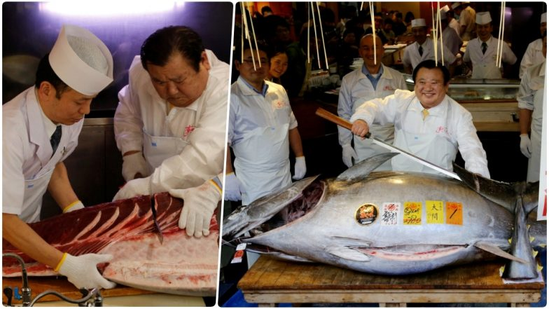 Japan's Sushi Tycoon Kiyoshi Kimura Pays Record $3.1 Million for an Endangered Bluefin Tuna at Tokyo Fish Auction