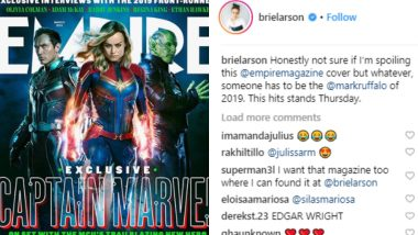 Brie Larson Wants to Be the Mark Ruffalo of 2019; Gives Out Marvel Spoiler