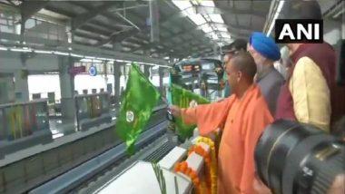 Uttar Pradesh: CM Yogi Adityanath, Hardeep Puri Inaugurate 29-KM Noida-Greater Noida Metro Line