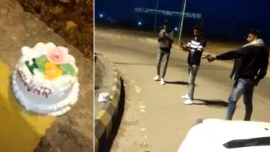 Video of Boy Shooting His Birthday Cake With Bullets Goes Viral, Meerut Police Denies to Probe