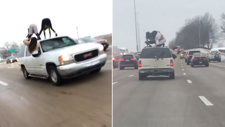 Crazy Video of Two Women Twerking on a Moving Vehicle Without License Plates at St. Louis Interstate Goes Viral