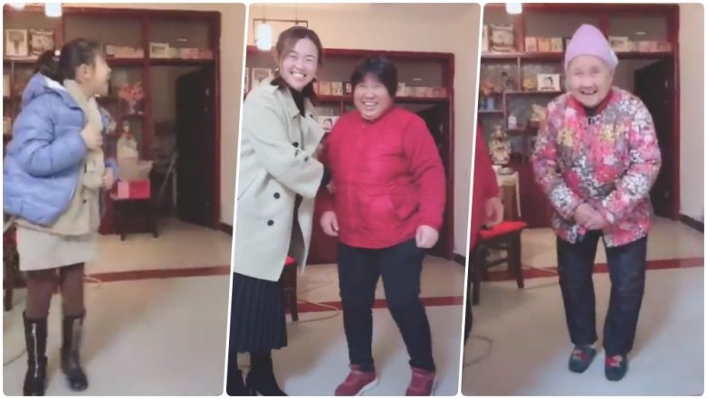 China's Four Generations Challenge Is the Cutest Meme of 2019; Netizens Can't Agree More (Watch Video)