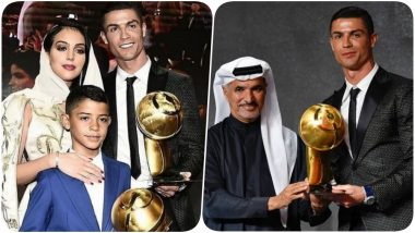 Cristiano Ronaldo Beats Lionel Messi; Wins Best Player of the Year at the 2019 Globe Soccer Awards for the Third Time! (See Pics and Video)