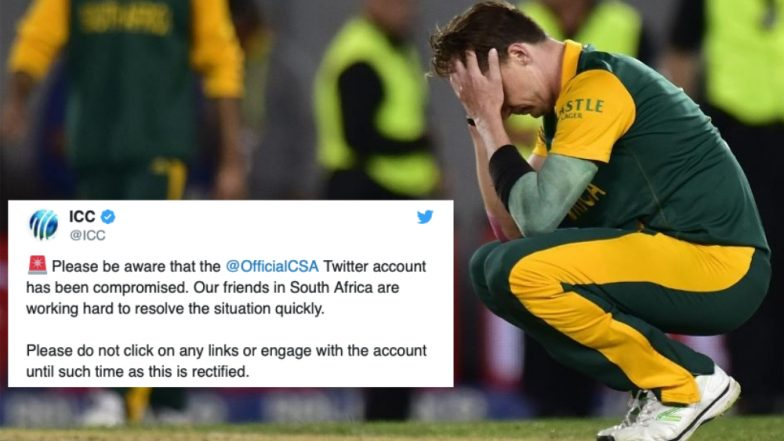 Cricket South Africa's Official Twitter Account Hacked As Hackers Try to Sell Bitcoin Lottery