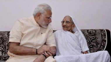 Narendra Modi Meets Mother Hiraba in Raisan Village During Gujarat Tour