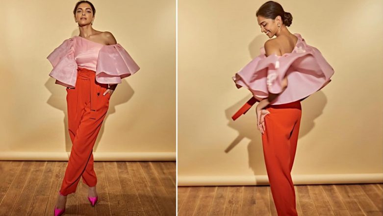 Deepika Padukone Ditches Everything Usual and Settles for This Attire With Unusual Colour Combination - View Pics
