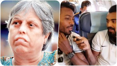 Hardik Pandya & KL Rahul to be Banned for Comments on Koffee With Karan 6? Reports Say COA Member Diana Edulji Wants Cricketers to be Barred?