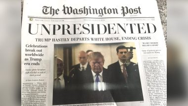 Donald Trump Resigns: Fake Washington Post Copies Distributed on Street With Front-Page Report Saying US President Has Left White House