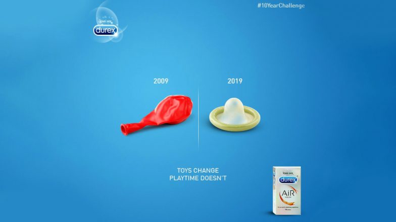 Condom Brand Durex Takes #10YearChallenge & Internet Announces It the Winner of Memes; Check Tweet