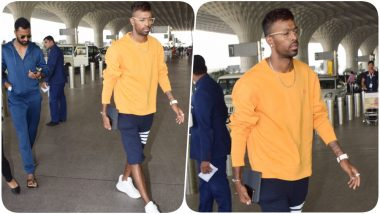 Hardik Pandya Spotted at Mumbai Airport With his Brother Krunal After KWK 6 Controversy (See Pics)