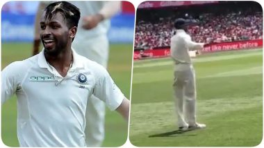Hardik Pandya Dances to the Tunes of the Fans During Day 4, Sydney Test (Watch Video)