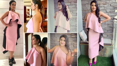Surbhi Chandna Borrows Hina Khan's Pink One- Off Shoulder Outfit and We Want You to Decide Who Wore it Better - Vote Now