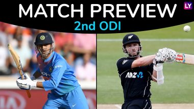 IND vs NZ, 2nd ODI 2019 Preview: India Aims to Double Their Lead, New Zealand Look to Draw Level