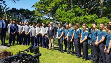 Virat Kohli, Tim Paine and Team Meet Australian Prime Minister Scott Morrison Ahead of Fourth Test at SCG (See Pics)
