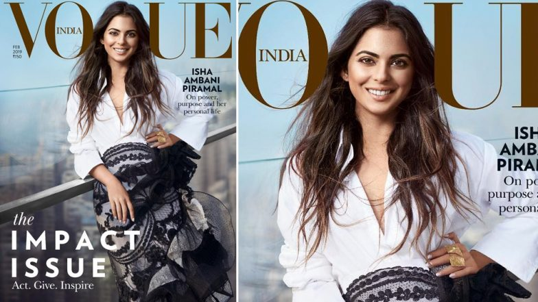 Isha Ambani Looks Elegant and Classy On Vogue India's Latest Cover - See Pic