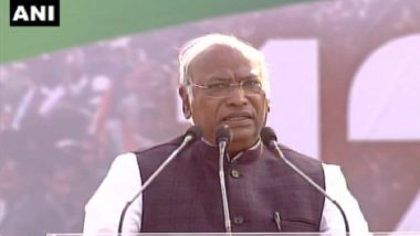 United India Rally in West Bengal: Sonia Gandhi and Rahul Gandhi Have Sent Good Wishes for Opposition Rally, Says Mallikarjun Kharge