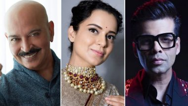 Kangana Ranaut Takes a Dig at Bollywood Once Again; Says Karan Johar and Rakesh Roshan Singled Me Out For Criticism