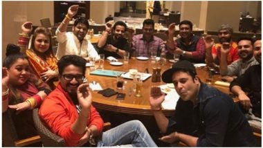 Kapil Sharma and Ginni Chatrath Celebrate Their First Lohri After Marriage With the Cast of His Show - View Pic