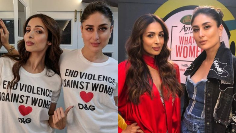 Malaika Arora Arrived on Kareena Kapoor's Radio Show Coincidentally Twinning with Her - View Pics