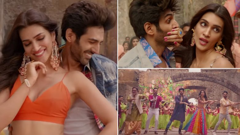 Luka Chuppi Song Poster Lagwa Do: Put on Your Dancing Shoes and Groove Away With Kriti Sanon and Kartik Aaryan - Watch Video