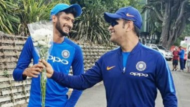 Khaleel Ahmed Gets a Bouquet from MS Dhoni; Says, 'No One Like Mahi Bhai'