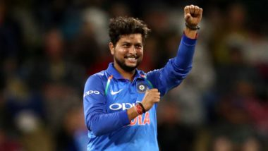 Kuldeep Yadav Becomes Third Fastest Indian Bowler to Scalp 100 ODI Wickets, Achieves Feat During India vs Australia 2nd ODI 2020 in Rajkot