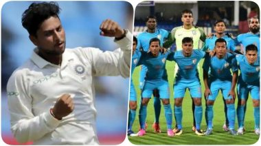 AFC Asian Cup 2019: Kuldeep Yadav Has a Special Message for Sunil Chhetri & Indian Football Team Participating in The Tournament