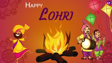 Happy Lohri 2020 Messages & Images: Twitterati Extend Wishes and Greetings on Punjabi Folk Festival
