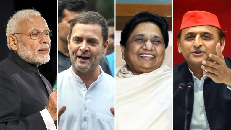 Lok Sabha Elections 2019 Opinion Poll: BJP Will Be Brought Down to 5 Seats in UP If BSP-SP Alliance Joins Hands With Congress, Says Mood Of The Nation Survey