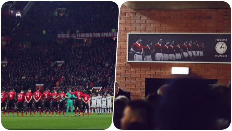 Manchester United Pays Tributes to Busby Babes & Cardiff Footballer Emiliano Sala Ahead of their Game Against Burnley in EPL 2018-19 (See Pics)