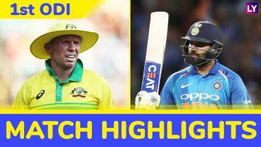 IND vs AUS 1st ODI 2019 Highlights: Rohit Sharma's Century in Vain as Australia Win by 34 Runs