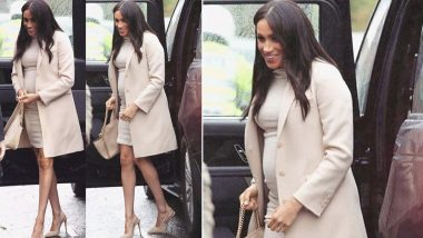 Meghan Markle is Busy Nailing her Maternity Wardrobe and Her Recent Monochrome Look Gets a Thumbs Up from Us - View Pics