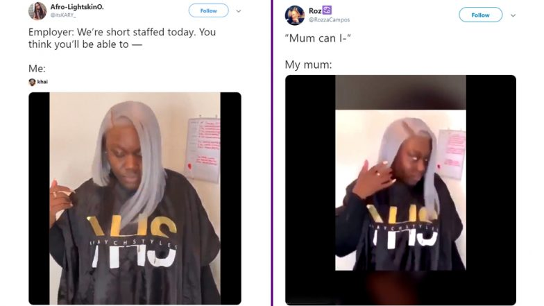 Video of a Woman Flaunting Her Hairstyle Goes Viral and Turns Into a Hilarious Meme (Watch Video)