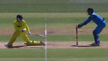 MS Dhoni's Lightning Quick Stumping Sends Peter Handscomb Packing During Ind vs Aus, 2nd ODI 2019 (Watch Video)