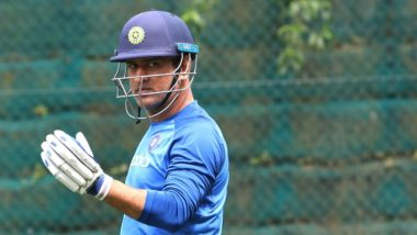 MS Dhoni Hits the Nets Ahead of Ind vs NZ 4th ODI 2019; Will he Feature in Playing XI? (See Pics)