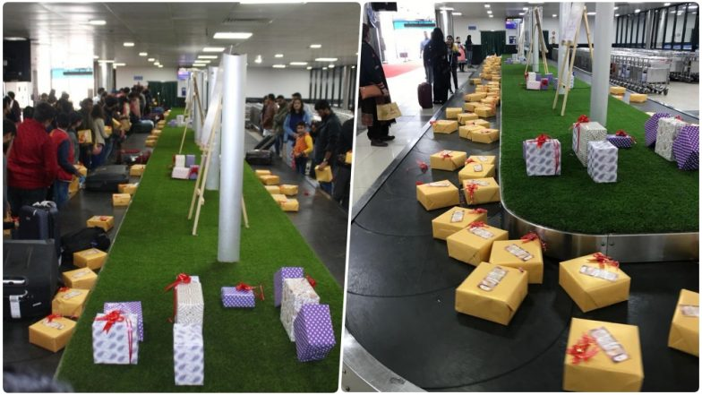 Pune Airport Conveyor Belt Had 2019 New Year Surprise Gifts; Passengers All Smile & Thankful to the Cute Gesture