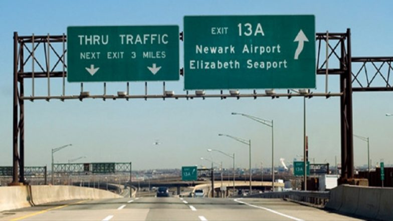 Drones Ground Flights at Newark airport in New York