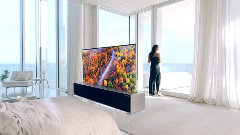 نتيجة بحث الصور عن LG SIGNATURE OLED Rollable TV Lifestyle