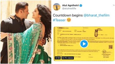 Bharat Teaser Out on January 26? Producer of Salman Khan and Katrina Kaif's Eid Release Gives a Tantalising Hint! Watch Video