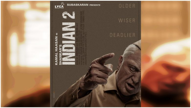 Indian 2 New Poster Gives Us a Proper Look of Kamal Haasan's 'Older, Wiser, Deadlier' Senapathi – View Pic