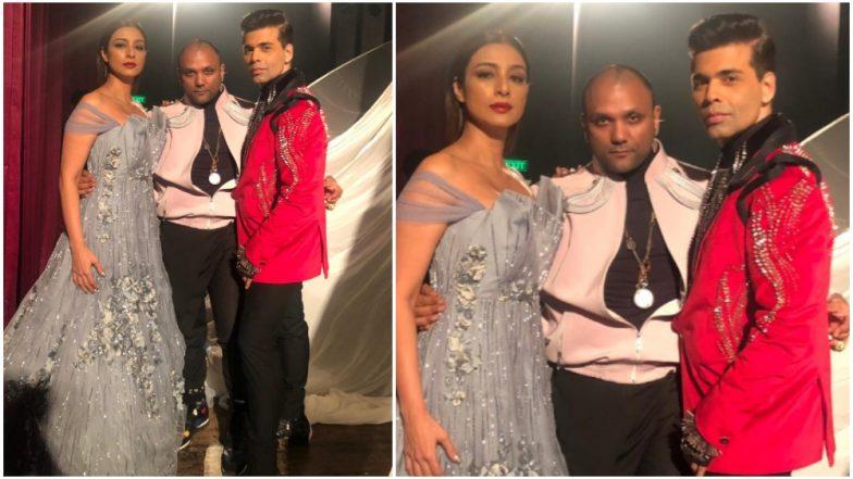 Lakme Fashion Week 2019: Karan Johar Gets Emotional as He Walks The Ramp With Tabu For Gaurav Gupta