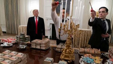 Donald Trump Serves Fast Food to College Football Champs, Netizens Unimpressed